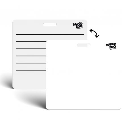 Blank Badge Buddy Writable Horizontal - Backer card - With writing lines on the back - by BadgeZoo