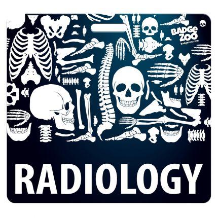 Radiology Badge Buddy Horizontal Heavy Duty Badge Tags Backer Card Double Sided Badge Identification Card
