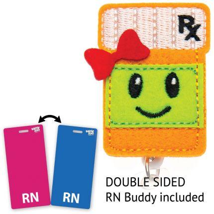 Pill Bottle RX Badge Reel - Cute Pharmacist Gift - Prescription Bottle Badge Holder