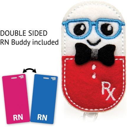 Pill Guy RX Badge Reel - With RN Badge Buddy