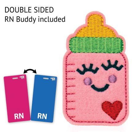 Baby Bottle  Badge Reel - Pediatrist Badge Holder