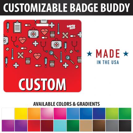 Custom Badge Buddy Medical Icons theme Horizontal