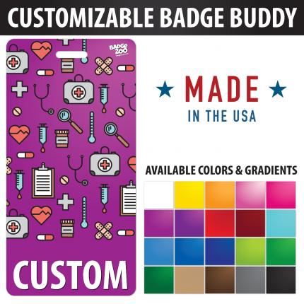 Custom Badge Buddy Medical Theme Vertical