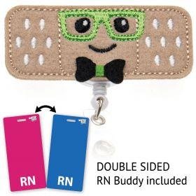 Bandage Guy Badge Reel - Nurse Badge Clip - Male Nurse Gifts