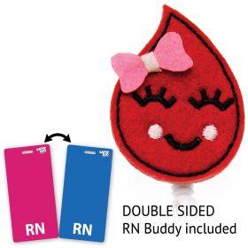 Blood Drop Nurse Badge Reel
