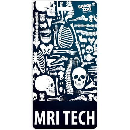 MRI TECH Badge Buddy Vertical Heavy Duty Badge Tags Backer Card Double Sided Badge Identification Card - by BadgeZoo