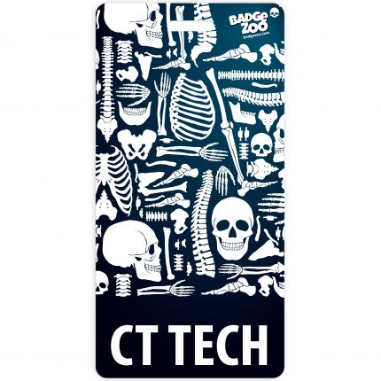 CTI TECH Badge Buddy Vertical Heavy Duty Badge Tags Backer Card Double Sided Badge Identification Card - by BadgeZoo