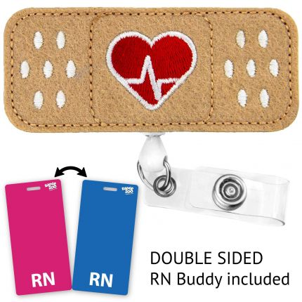 EKG Heart Badge With Badge Buddy