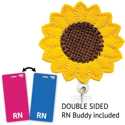 Sunflower Badge Reel - With RN Badge Buddy